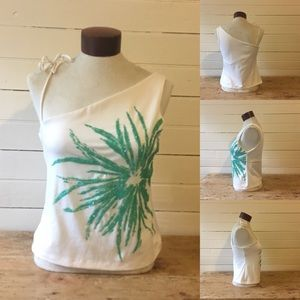 JULY 4th! Beaded Fireworks One-Shoulder Top NWT